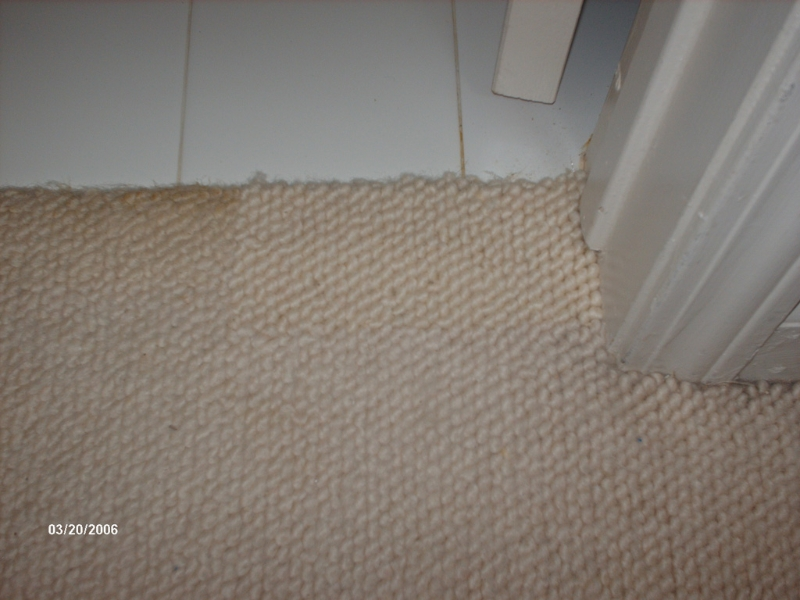berber carpet patch- after