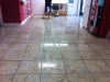 Heavy soiled tiles and grout cleaning